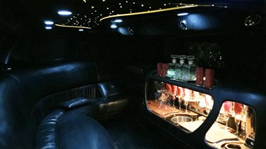 white limo interior at night
