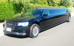 black limo outside winery